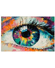 Optometrist Watercolor Eye 17x11 Poster front