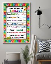 Librarian When you enter this library 11x17 Poster lifestyle-poster-1