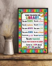 Librarian When you enter this library 11x17 Poster lifestyle-poster-3