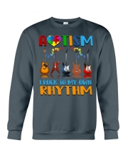 Autism Awareness I rock my own rhythm Crewneck Sweatshirt thumbnail