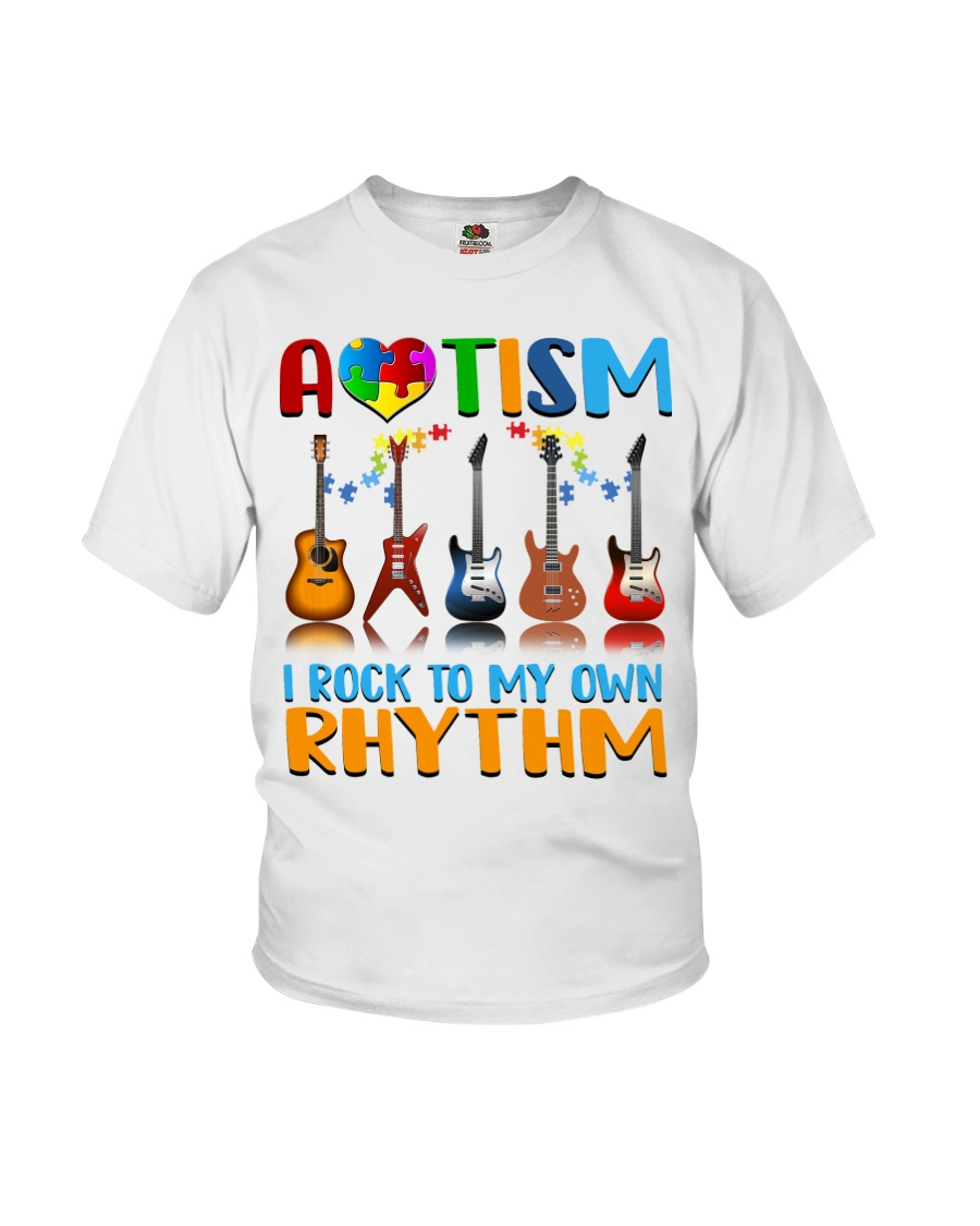 Autism Awareness I rock my own rhythm Youth T-Shirt