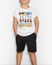 Autism Awareness I rock my own rhythm Youth T-Shirt lifestyle-youth-tshirt-front-1