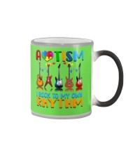 Autism Awareness I rock my own rhythm Color Changing Mug thumbnail