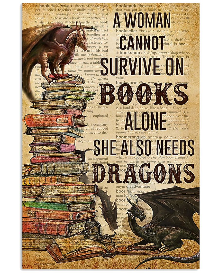 Book Lovers She Also Needs Dragons 11x17 Poster