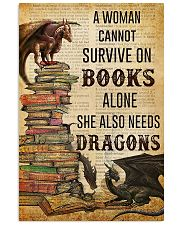 Book Lovers She Also Needs Dragons 11x17 Poster front