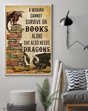 Book Lovers She Also Needs Dragons 11x17 Poster lifestyle-poster-1