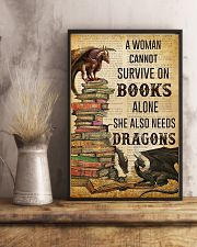 Book Lovers She Also Needs Dragons 11x17 Poster lifestyle-poster-3