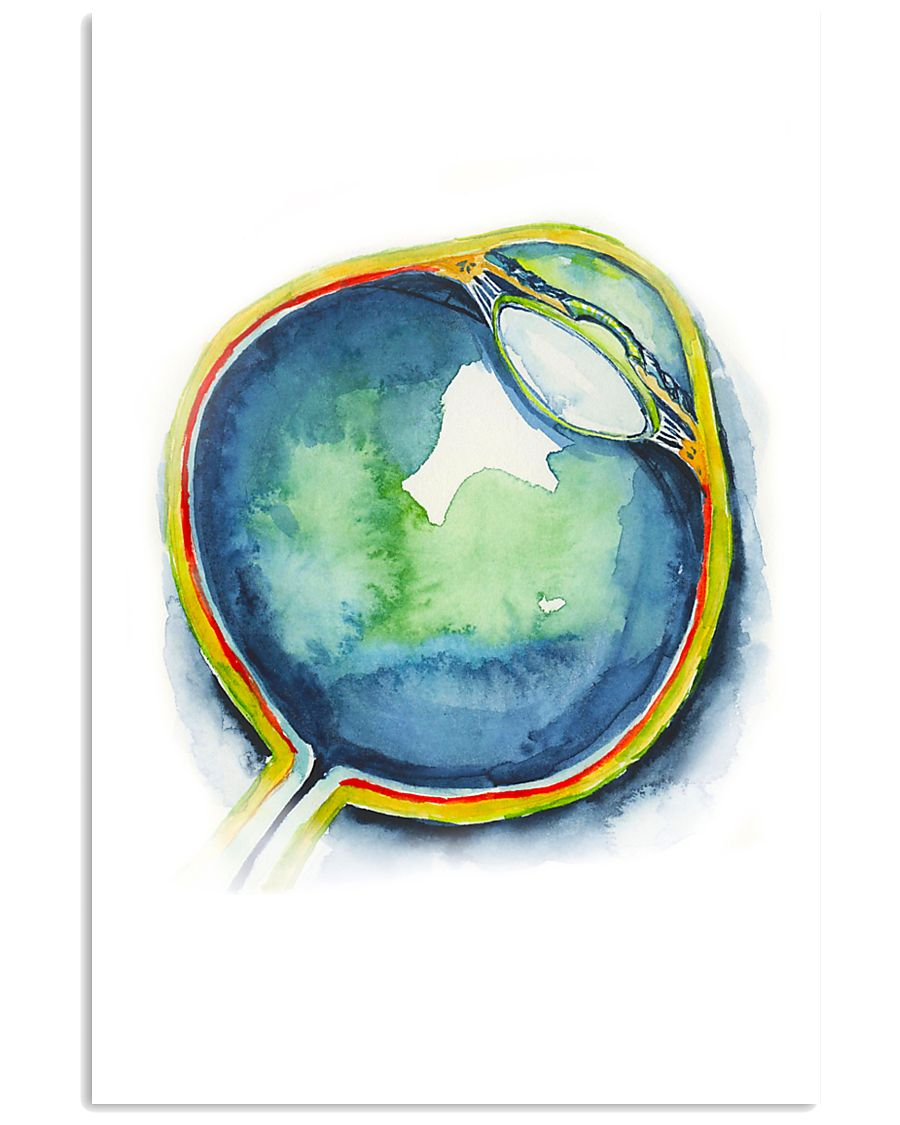 Art Watercolor Eye Optometrist 11x17 Poster