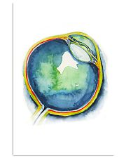 Art Watercolor Eye Optometrist 11x17 Poster front