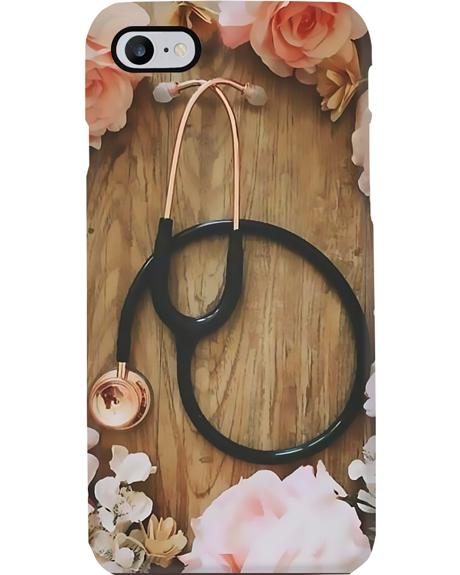 Medical Assistant Stethoscope Flowery Wood Phone Case