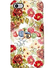 Crochet and Knitting Flowers and Yarn Phone Case i-phone-7-case