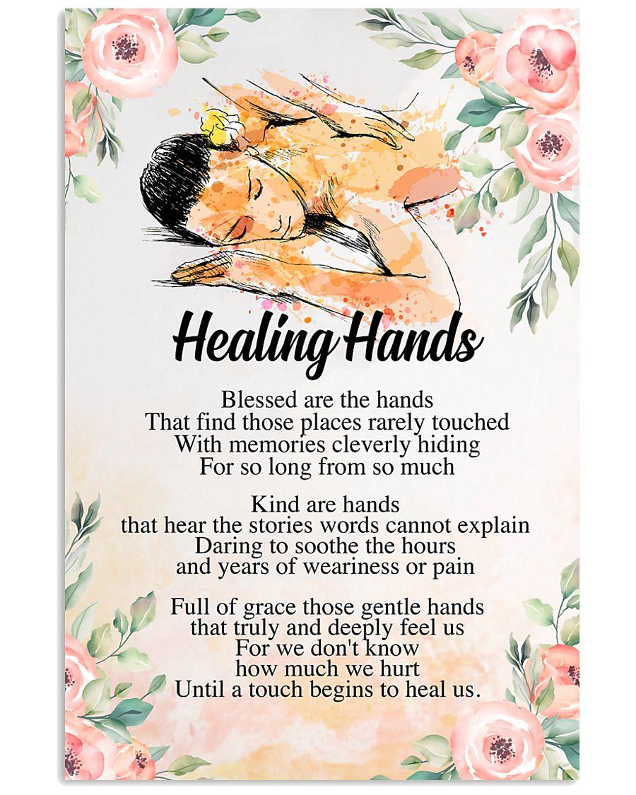 Massage Therapist Healing Hands 24x36 Poster