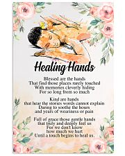 Massage Therapist Healing Hands 24x36 Poster front