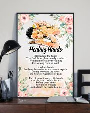 Massage Therapist Healing Hands 24x36 Poster lifestyle-poster-2
