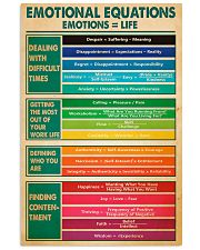 Social Worker Emotional Equations 11x17 Poster front