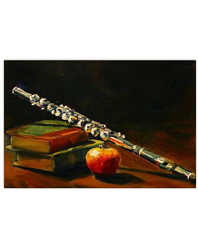 Art Vintage Book Apple Flute