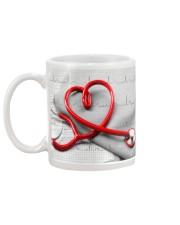Cardiologist Red Stethscope Mug back