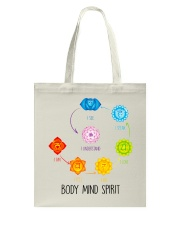 Yoga Body mind spirit Tote Bag tile