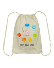 Yoga Body mind spirit Drawstring Bag tile
