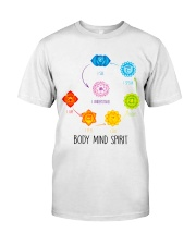 Yoga Body mind spirit Classic T-Shirt tile