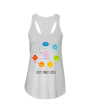 Yoga Body mind spirit Ladies Flowy Tank tile