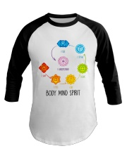Yoga Body mind spirit Baseball Tee tile