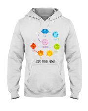 Yoga Body mind spirit Hooded Sweatshirt tile