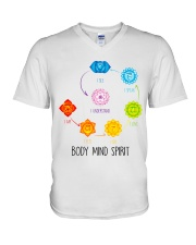 Yoga Body mind spirit V-Neck T-Shirt thumbnail