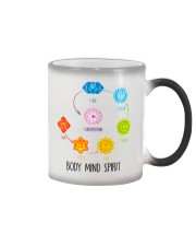 Yoga Body mind spirit Color Changing Mug tile