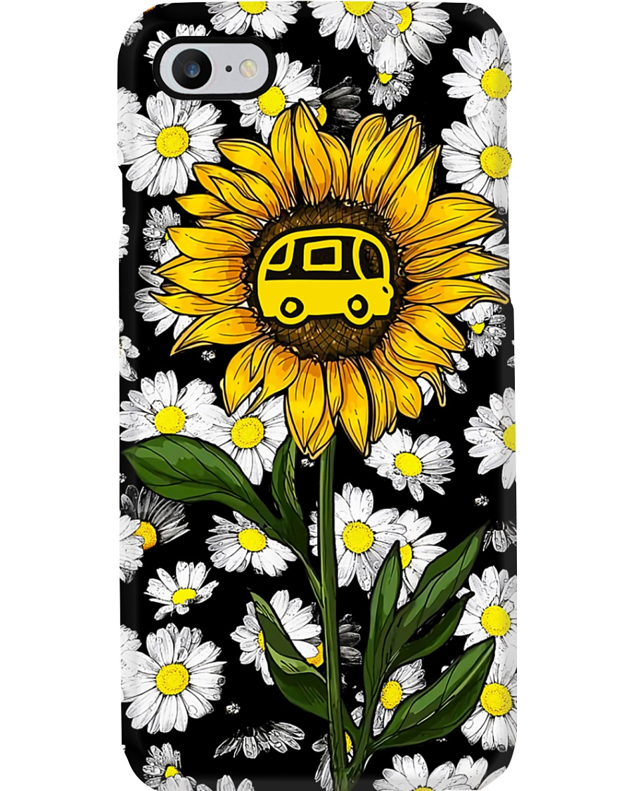 Camping Daisy And Sunflower Phone Case