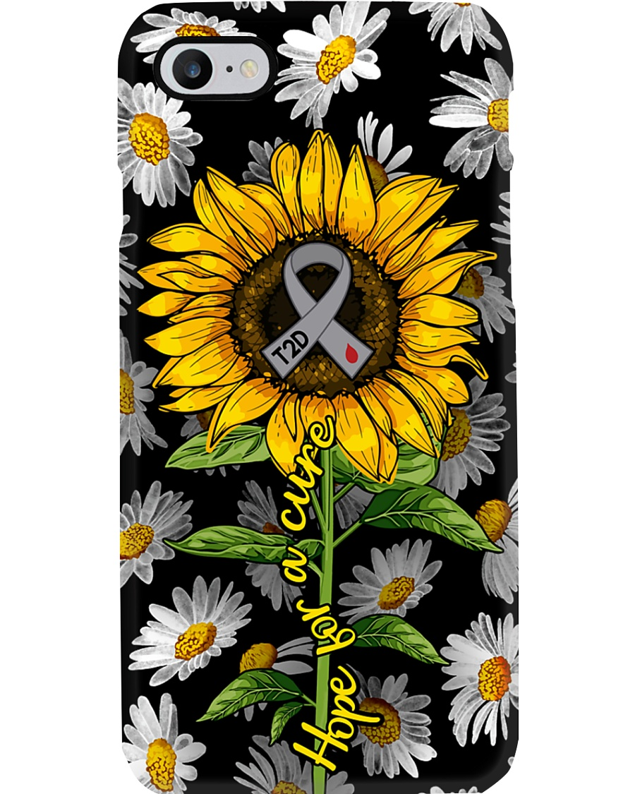Diabetes Hope For A Cure Sunflower Type 2 Phone Case
