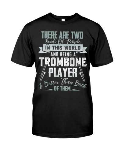 Trombonist two of people being trombone