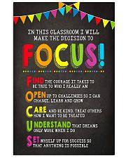Focus In Classroom Teacher 11x17 Poster front
