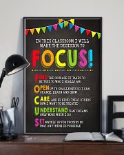 Focus In Classroom Teacher 11x17 Poster lifestyle-poster-2