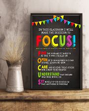 Focus In Classroom Teacher 11x17 Poster lifestyle-poster-3
