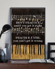 Pianist practice until you can't get it wrong 11x17 Poster lifestyle-poster-2