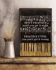 Pianist practice until you can't get it wrong 11x17 Poster lifestyle-poster-3