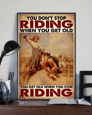 Horse Girl - You Get Old When You Stop Riding 11x17 Poster lifestyle-poster-2