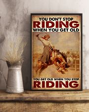 Horse Girl - You Get Old When You Stop Riding 11x17 Poster lifestyle-poster-3