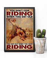 Horse Girl - You Get Old When You Stop Riding 11x17 Poster lifestyle-poster-8
