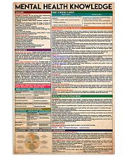 Social Worker Mental Health Knowledge 11x17 Poster front