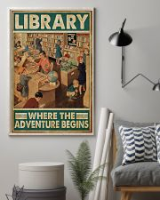 Librarian Library Where The Adventure Begins 11x17 Poster lifestyle-poster-1