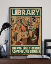 Librarian Library Where The Adventure Begins 11x17 Poster lifestyle-poster-2