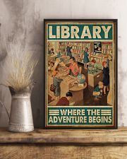 Librarian Library Where The Adventure Begins 11x17 Poster lifestyle-poster-3