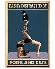 Easily Distracted By Yoga And Cats 11x17 Poster front