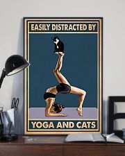 Easily Distracted By Yoga And Cats 11x17 Poster lifestyle-poster-2