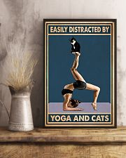 Easily Distracted By Yoga And Cats 11x17 Poster lifestyle-poster-3
