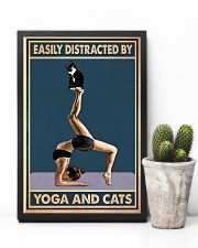 Easily Distracted By Yoga And Cats 11x17 Poster lifestyle-poster-8