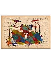 Drummer Colorful Drumset Music Sheet 17x11 Poster front