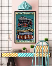 Sewing Cats And Fabrics 11x17 Poster lifestyle-poster-6